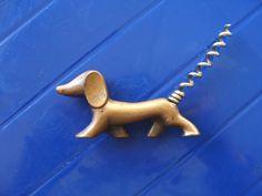 Vintage bottle opener Dachshund Dog Vintage by 888VintageShoppe