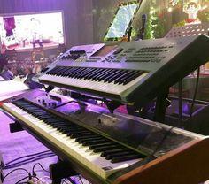 Korg Kronos 2 x Yamaha Motif XS #yamahamotif #korgkronos #korg #yamaha #musician #gospel #OMNIVERSE #synthwedding #synth #stage #live