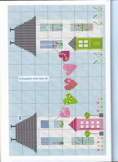 Newest Snap Shots Cross Stitch house Strategies Cross-stitch is an easy form of needlework, well matched to the cloth available to stitchers today. Cross Stitch House, Cross Stitch Heart, Simple Cross Stitch, Cross Stitch Borders, Cross Stitch Flowers, Cross Stitch Designs, Cross Stitching, Cross Stitch Embroidery, Embroidery Patterns