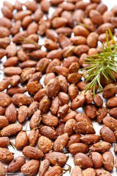 Rosemary and Smoked Salt Roasted Almonds