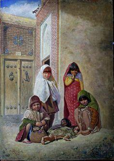Poor Children (Tabriz - Maralan Neighborhood ) - By Jafar Petgar - Iranian Artist - 1939