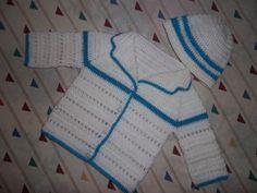 Conjunto en crochet, saquito bebe, recien nacido.