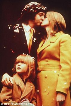 Paul McCartney and Linda Eastman. The day my little 9 year old heart broke, Beatle Paul got married. IN NY!!!