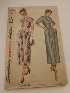 Antique Simplicity Pattern 2876 Misses Dress Jumper and Blouse Size 16 Factory Fold by VintagePatternDrawer on Etsy