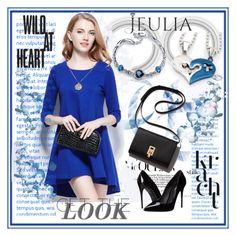 """""""Jeulia Jewelry"""" by lip-balm ❤ liked on Polyvore featuring Dolce&Gabbana, women's clothing, women's fashion, women, female, woman, misses, juniors and jeulia"""