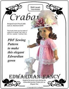 "Edwardian Fancy 18"" Doll Clothes Pattern"