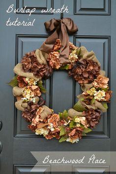 DIY Burlap Fall Wreath Tutorial