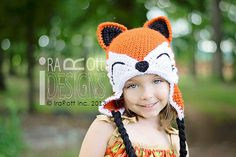NEW PATTERN, Moxie and Roxy the Red Forest Foxes, Crochet Hat Pattern in PDF