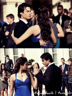 love the dress, the hair... and oh yeah, that hunk of hotness dancing with her (Vampire Diaries)