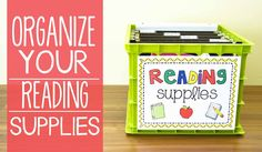 organize guided reading materials - finger beams, comprehension cards, digraph cards, paper/pen, sight words game, reading strategy mini poster plus each group's daily book and comprehension page divided into folders
