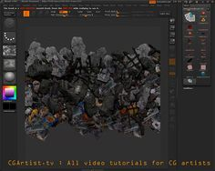 ZBrush rubble tiling texture tutorial.