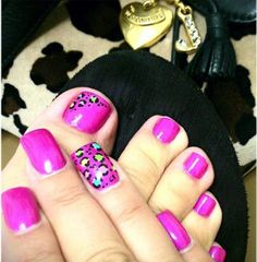 Neon Pink Leopard Nail Art - NAILS Magazine