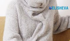 "Женский пуловер из мохера ""Воздушный поцелуй"" вязаный спицами Knit Crochet, Men Sweater, Knitting, Sweaters, Crocheting, Fashion, Crochet Hooks, Moda, Ganchillo"