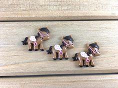 Pony Hair Bow Center Pony cabochon pony flatback cowgirl