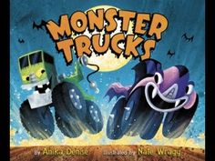 On a spooky speedway . Join Frankentruck, Zombie Truck, Ghost Truck, and more as they race to the finish line. But one of these trucks isn't quite who you think. Who will win the monster truck race? Halloween Books, Halloween Pictures, Halloween Season, Halloween 2016, Halloween Kids, Halloween Candy, Monster Truck Racing, Monster Trucks, Date