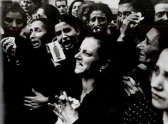 Funeral of 20 teenage partisans of the Liceo Sannazaro, in the Vomero district. Naples, Italy, October 2, 1943.