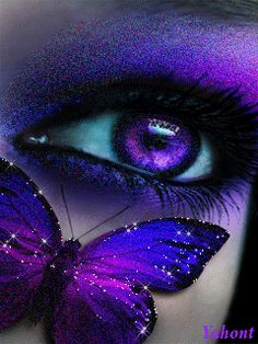purple eye and butterfly i want contacts this color