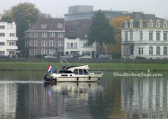 Boat on the Maas River, Maastricht, The Netherlands