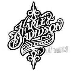 Image result for Harley-Davidson Stencil Patterns