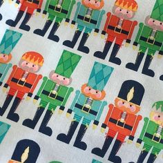 Our Nutcracker Christmas strike offs arrived today and they look great. This collection arrives in June... I know I know Christmas just got over, but we had to share this print! #nutcracker #iloverileyblake #christmasfabric