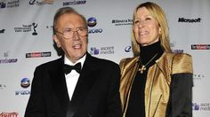 Lady Carina FitzAlan-Howard and her husband Sir David Frost. Cousins in both birth and adopted families.