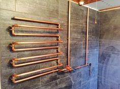 Custom Made Copper Towel Rail    eBay