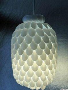 plastic spoon light crafts