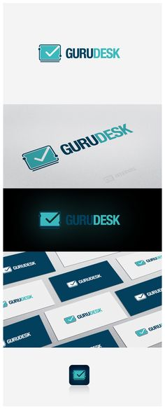 Logo design for GURUDESK, providers of remote computer tech support, repair and tune-up services.