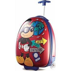 "American Tourister Disney Mickey Mouse 18"" Upright Hard Side Suitcase - Walmart.com"
