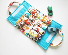 Toy Car TOTE - Holds 8 - Kid Car. $24.00, via Etsy.