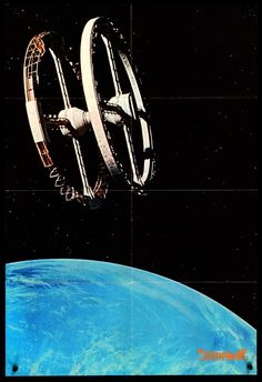 A Space Odyssey (Japan) Art Vintage, Vintage Movies, Leonard Rossiter, Keir Dullea, Space Echo, Space Colony, 2001 A Space Odyssey, Black Square, Movie Theater