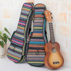 HOT SEAL Waterproof Durable Colorful Ukulele Cotton Case Bag with Storage Backpack