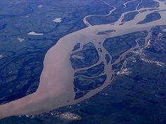 Río Paraná, al sur de Bella Vista, Corrientes/Santa Fé, Argentina.