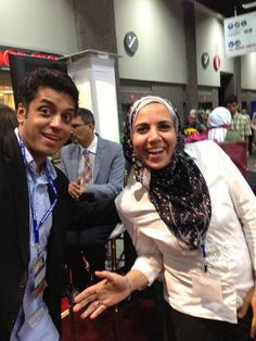 Muslim extraordinaire Wajahat Ali with ZC Social Media Director Heba Macksoud at the 2013 ISNA convention in Washington, D.C.