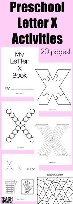 This post may contain affiliate links.It's time for my weekly letter of the week post and this week my post is full of preschool letter x activities for you! As you know, there are not a lot of options for a letter X theme, but here are a few I could come up with: X-Ray, … Teaching Letters, Preschool Letters, Letter Activities, Preschool Printables, Preschool Curriculum, Preschool Classroom, Preschool Worksheets, Class Activities, Preschool Learning