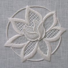 Whitework Kit - Waterlily - featured in the Essential Stitch Guide