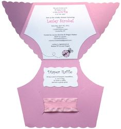 Baby Shower Diaper Invitation Template. I made these for my sister's shower. Super cute!!