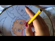 Pintura en Tela - Cara Santa -2 - YouTube