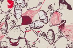 Patterns A/W : Ripe Meadows by Suz Sanchez, via Behance Pattern Images, Pattern Art, Pattern Design, Line Patterns, Textures Patterns, Wrapping Paper Design, Tangle Art, Beautiful Patterns, Fashion Prints