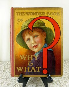 The Wonder Book of Why and What Antique Childrens by naturegirl22, $18.95