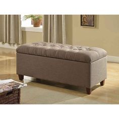Storage Bench Seat Ottoman Footstool Table Living Bed Room Accent Furniture Sofa…