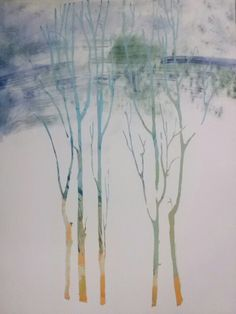 The wind / screen printing and pigments / 2014