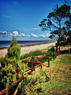 Paz en una playa de la Laguna Merim