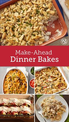 From Ritz Cracker Cream Cheese Chicken Bake to a Green Chile Chicken Tortilla Casserole, these are our favorite make-ahead dinner casseroles. Easy to prep and ready to bake when your schedule allows, these easy weeknight winners dominate our meal-planning Make Ahead Freezer Meals, One Pot Meals, Quick Meals, Make Ahead Casseroles, Freezer Cooking, Freezer Recipes, Cooking Tips, Freezer Meal Party, Cooking Classes