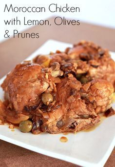 Moroccan Chicken with Lemon, Olives