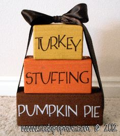 We all need more Thanksgiving decorations - they are so hard to find! This is a great one and simple to make. Check out the tutorial at www.SodaPopAve.com to find out how.