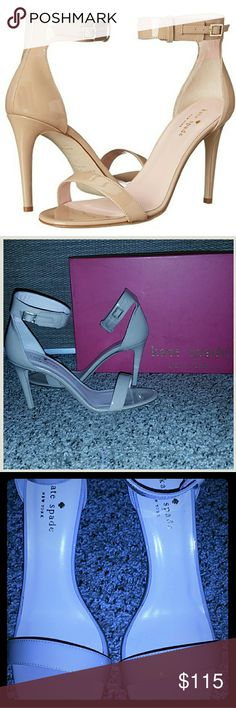 *NEW* Kate Spade Isa Heels Brand New in Box Kate Spade New York Women's Isa Dress Sandals Size: 7.5/ Color: Powder Patent (Nude/Cream) -I tried these heels on at home and on carpet for a few minutes--picture #4 shows this- kate spade Shoes Heels