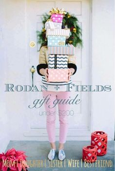 """I'm excited to show you the Rodan + Fields 2015 """"$200 and under"""" Gift Guide today! Ranging from full regimens, to luxury pampering kits, to skincare tools....this group of gifts definitely has the WOW factor!   I've even included some fun stocking stuffer and teacher/hostess/secret santa gift ideas that are under $30! Sit back, relax and shop!  Whether that person on your list is a total skincare junkie, struggles with a skin concern, hasn't been able to try R+F because of fi"""