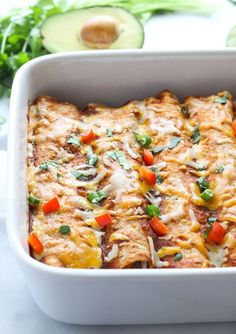 Sweet Potato Black Bean and Spinach Enchiladas- packed full of healthy veggies, these enchiladas are loaded with vitamins, mineral, protein and plenty of flavor! (vegetarian + gluten-free)