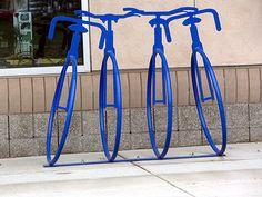 artistic bike rack   artistic-bike-rack-blue